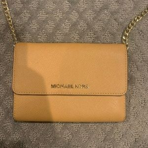 Michael Kors Crossbody Bag - Wheaty Brown Color
